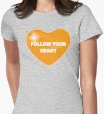 Follow Your Heart (Orange) Women's Fitted T-Shirt