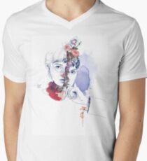CELLULAR DIVISION by elena garnu V-Neck T-Shirt