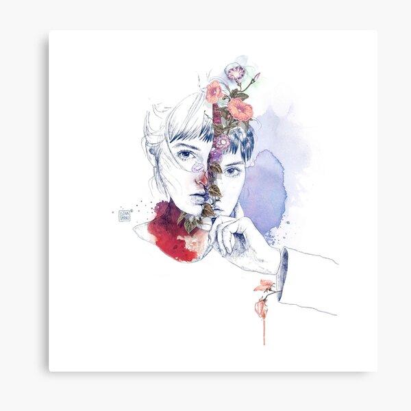 CELLULAR DIVISION by elena garnu Metal Print