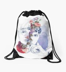 CELLULAR DIVISION by elena garnu Drawstring Bag