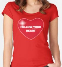 Follow Your Heart (Red) Women's Fitted Scoop T-Shirt