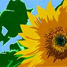 """Sunflower"" Pop Art Style Nature Painting by Michael Arnold"