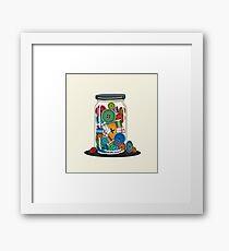 Sewing Jar Framed Print