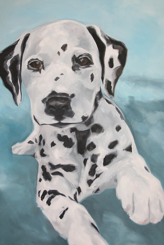 Portrait of a Dalmation by Karen Brandon
