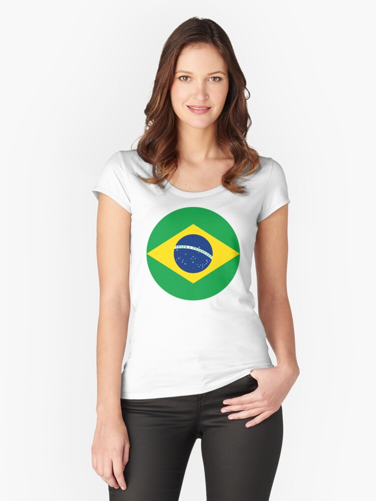 Brazil, Brasil Women's Fitted Scoop T-Shirt Front
