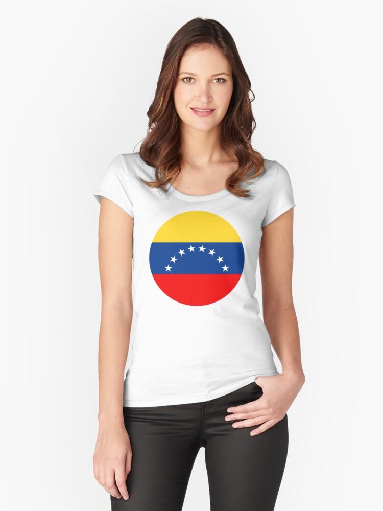 Venezuela Women's Fitted Scoop T-Shirt Front