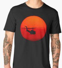 Vietnam Helicopter Sunset | Aircraft Art Men's Premium T-Shirt