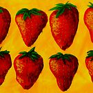 """Strawberry Fields"" original pop art painting by Michael Arnold"