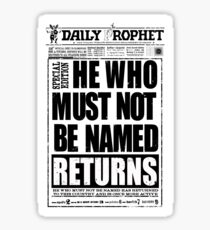 he who must not be named Sticker