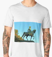 General John Logan On Horseback Men's Premium T-Shirt