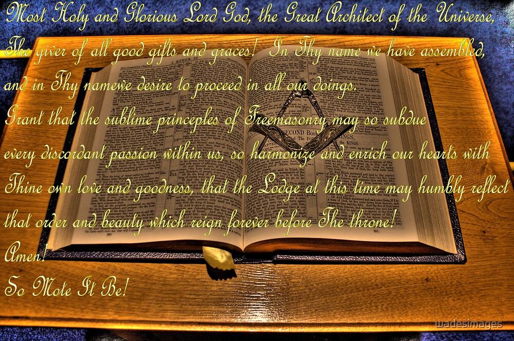 Masonic Prayer by wadesimages