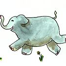 Running Elephant by Tama Blough