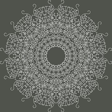 Mandala - A - White by D-GraphicDesign