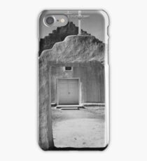Ansel Adams - Front view of entrance, Church, Taos Pueblo National Historic Landmark, New Mexico, 1942 iPhone Case/Skin