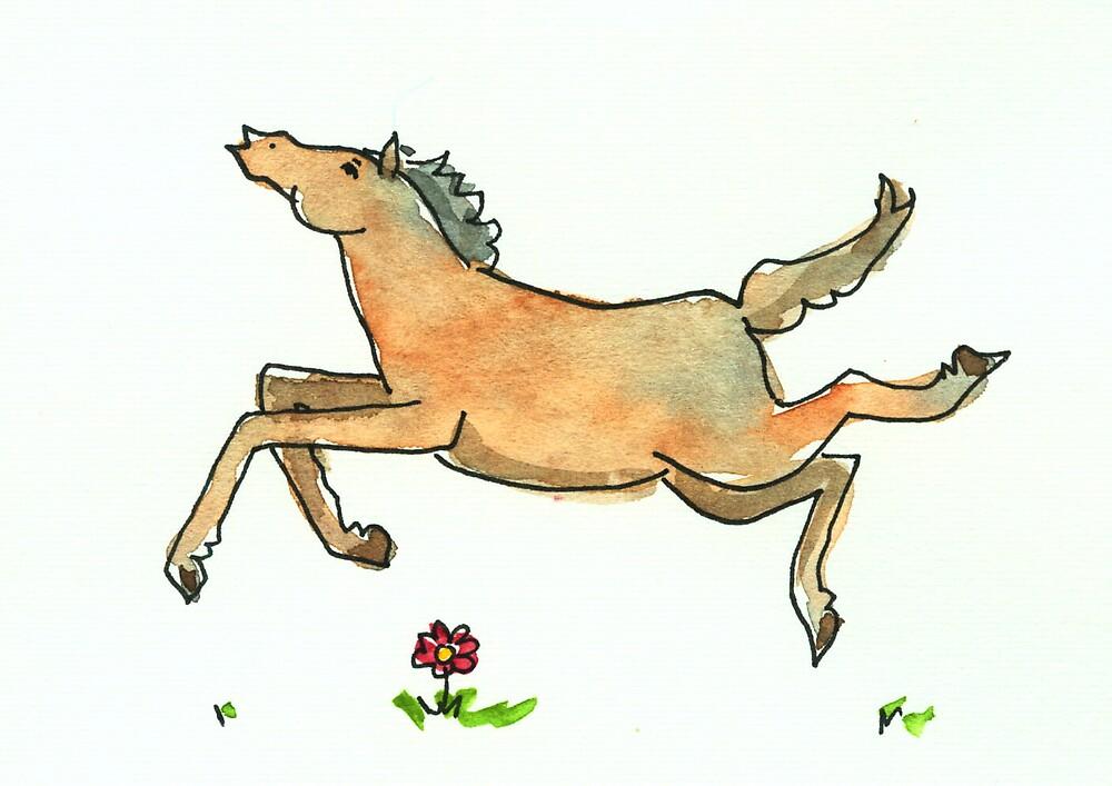 Running Horse by Tama Blough
