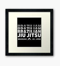 JIU JITSU - BRAZILIAN JIU JITSU Framed Print