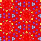 Christmas stars pattern by Silvia Ganora