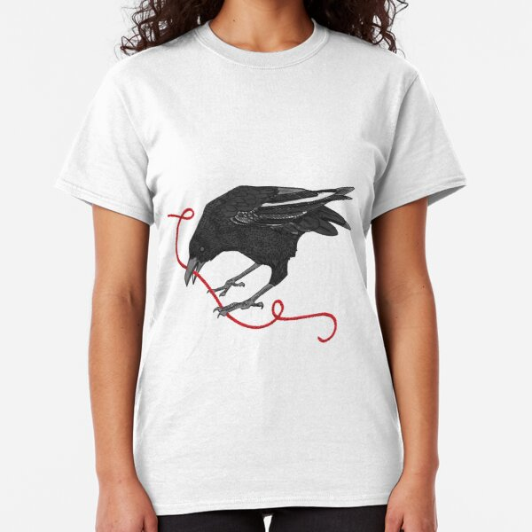 Crow with Red String #2 Classic T-Shirt