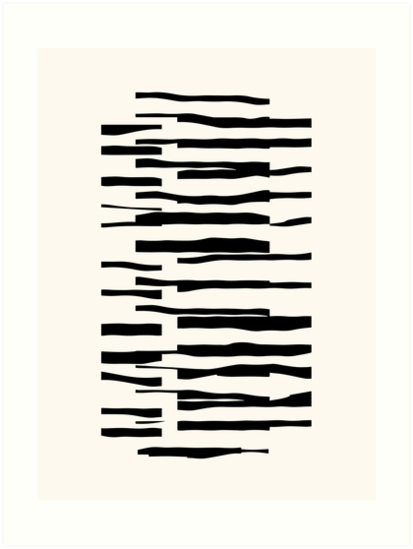 Organic No.13 Black & White by Menega  Sabidussi