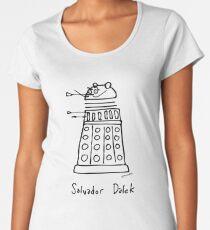 Salvador Dalek - black print version Women's Premium T-Shirt