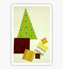 Polka dot Christmas tree Sticker