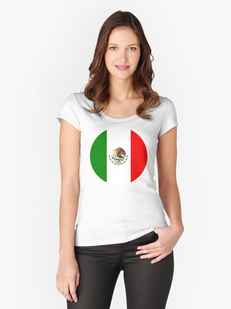 mexico Women's Fitted Scoop T-Shirt Front