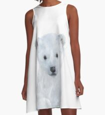 Little Polar Bear A-Line Dress