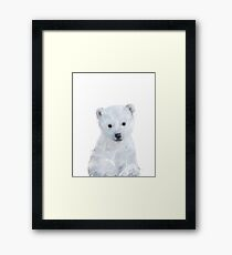 Little Polar Bear Framed Print