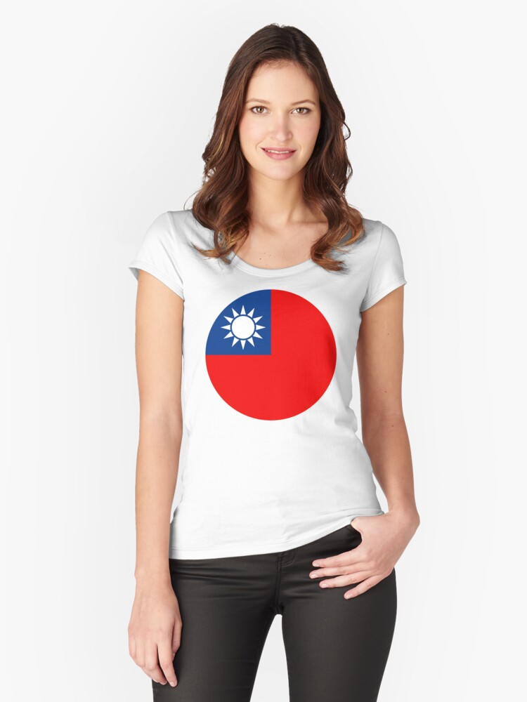 Taiwan, 台灣 Women's Fitted Scoop T-Shirt Front