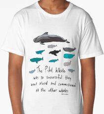 Pilot Whales Cartoon Long T-Shirt