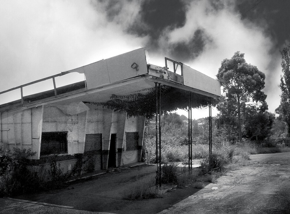 old petrol station by adam pearson