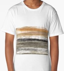 Shadow abstract watercolor background Long T-Shirt