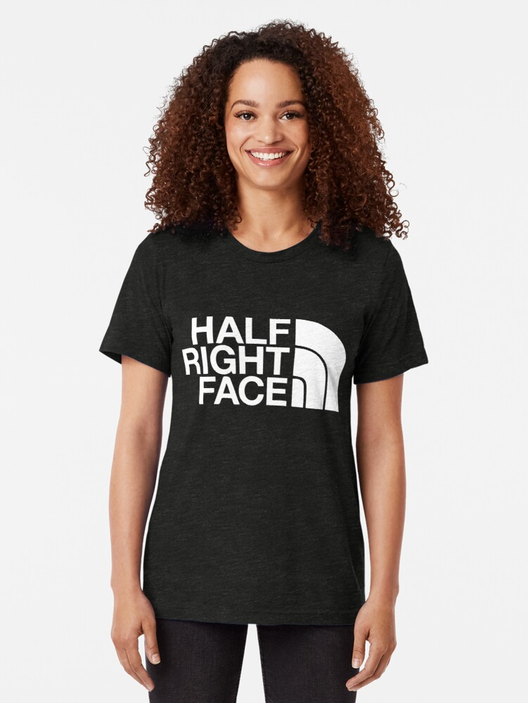 Alternate view of Half Right Face Tri-blend T-Shirt