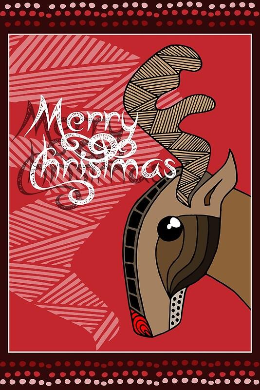 Quot Australian Aboriginal Art Christmas Reindeer Quot By