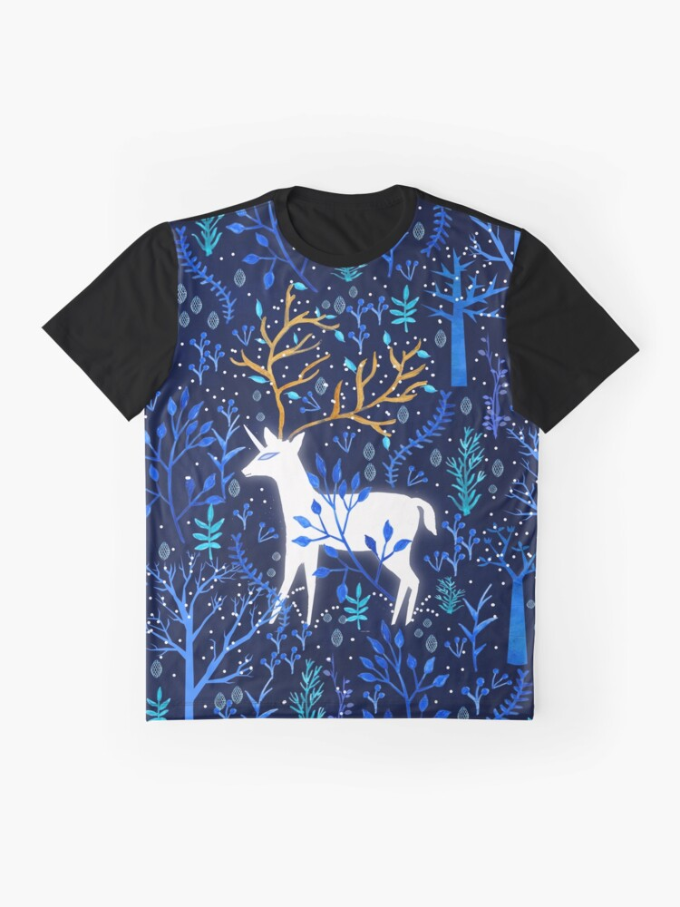 Vista alternativa de Camiseta gráfica Deericorn en azul