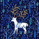 Deericorn In Blue by elenor27