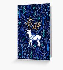 Hirschhorn In Blau Grußkarte