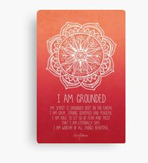 I AM GROUNDED Canvas Print
