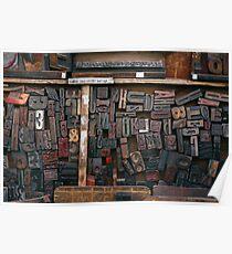 Letterpress Printing, Printing Press Set, Letters, Lettering, Typography Art, Printing, Vintage Art, Retro Art Poster