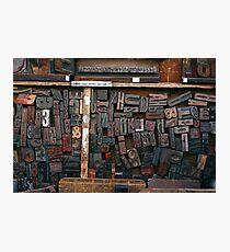 Letterpress Printing, Printing Press Set, Letters, Lettering, Typography Art, Printing, Vintage Art, Retro Art Photographic Print
