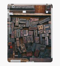 Letterpress Printing, Printing Press Set, Letters, Lettering, Typography Art, Printing, Vintage Art, Retro Art iPad Case/Skin