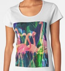 Flamingo-Tanz Frauen Premium T-Shirts