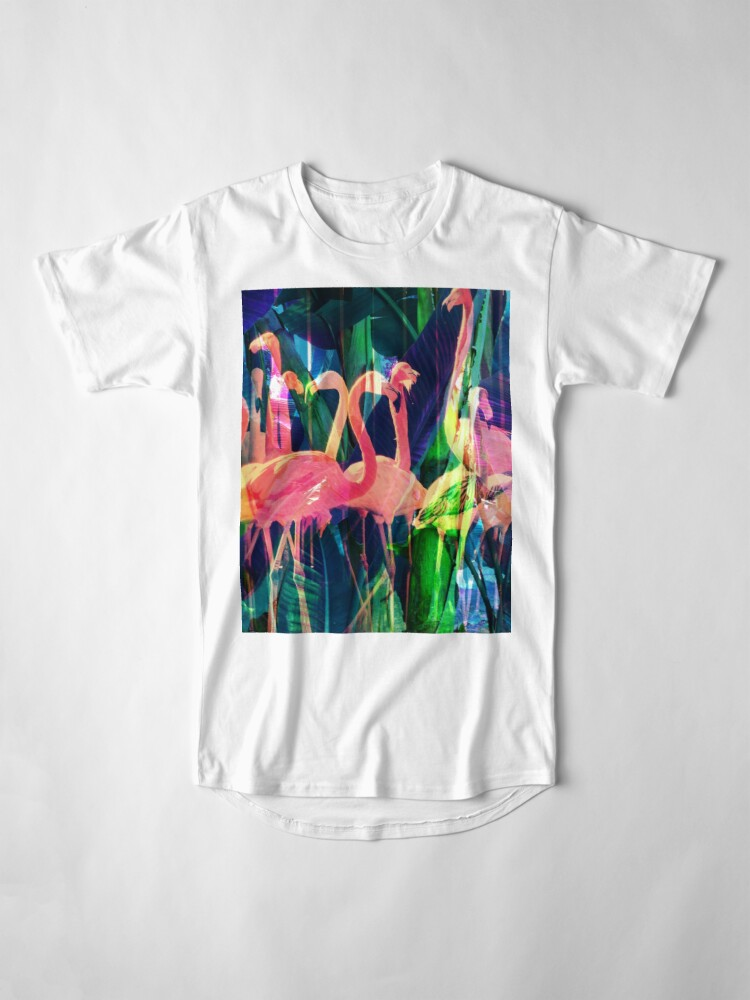 Alternate view of Flamingo Dance Long T-Shirt