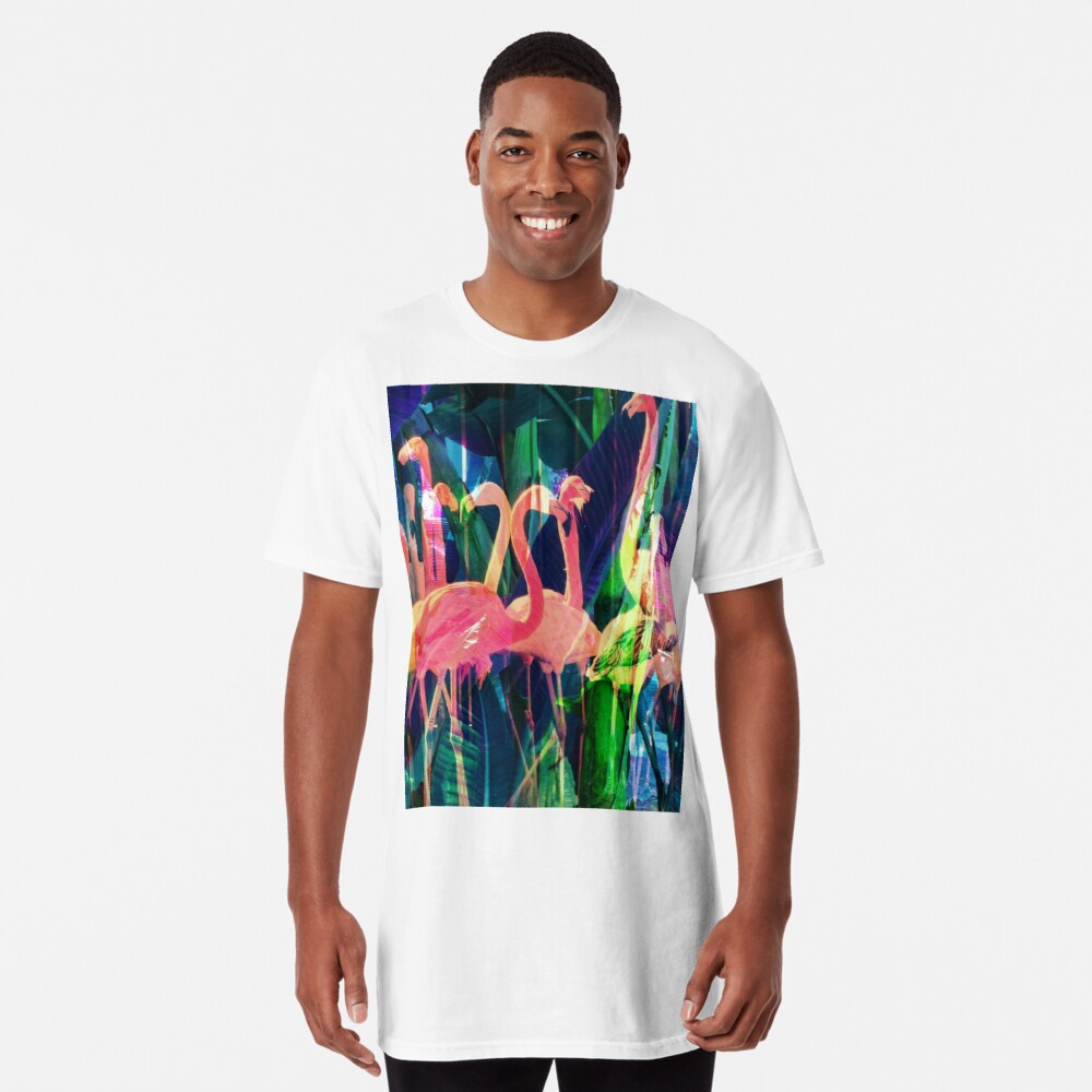Flamingo Dance Long T-Shirt