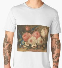 Still life, bunch of flowers by W.B. Gould (c1838) Men's Premium T-Shirt