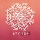 I Am Ground - Root Chakra Square by CarlyMarie