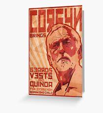 Corbyn bringt Bärte, Weste und Quinoa Grußkarte