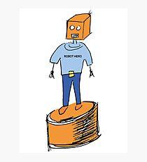 Robot Hero Photographic Print