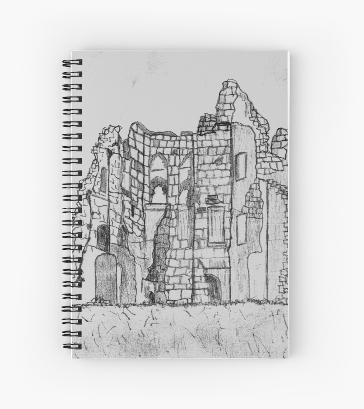 My pencil sketch of old wardour castle england destroyed in english civil war 1643