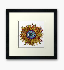 Psychedelic Sunflower - Just the flower Framed Print